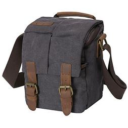 waterproof canvas leather trim dslr
