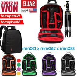Waterproof  DSLR  Shockproof Camera Backpack Bag Case For Ca