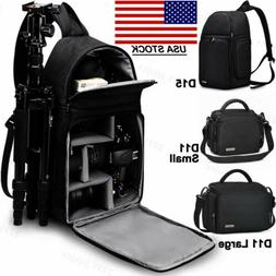 Waterproof Sling Camera Bag Backpack For Canon Sony Nikon Fu