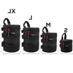 Waterproof Well Padded Zippered DSLR Camera Lens Case Protec