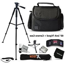 """Premium Well Padded Camera CASE / BAG and Full Size 75"""" in"""