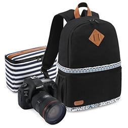 "Kattee Women's Canvas SLR DSLR Camera Backpack 14"" Laptop Ba"