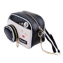 Women Vingtage Camera Shape Shoulder Bag Handbag Cross Body