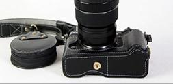 X-T2 X-T3 BolinUS Handmade Genuine Real Leather Half Camera